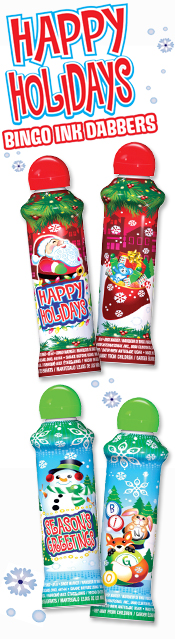 Christmas - Happy Holidays - Bingo Ink Daubers