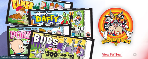 Looney Tunes 5 Window Seal Tickets